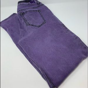 EUC Lei Purple Emma Jegging Size 11 Juniors